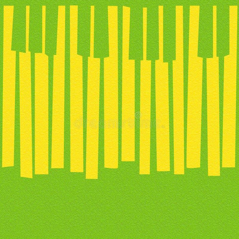 O piano musical abstrato fecha - fundo sem emenda - o textu do citrino ilustração do vetor