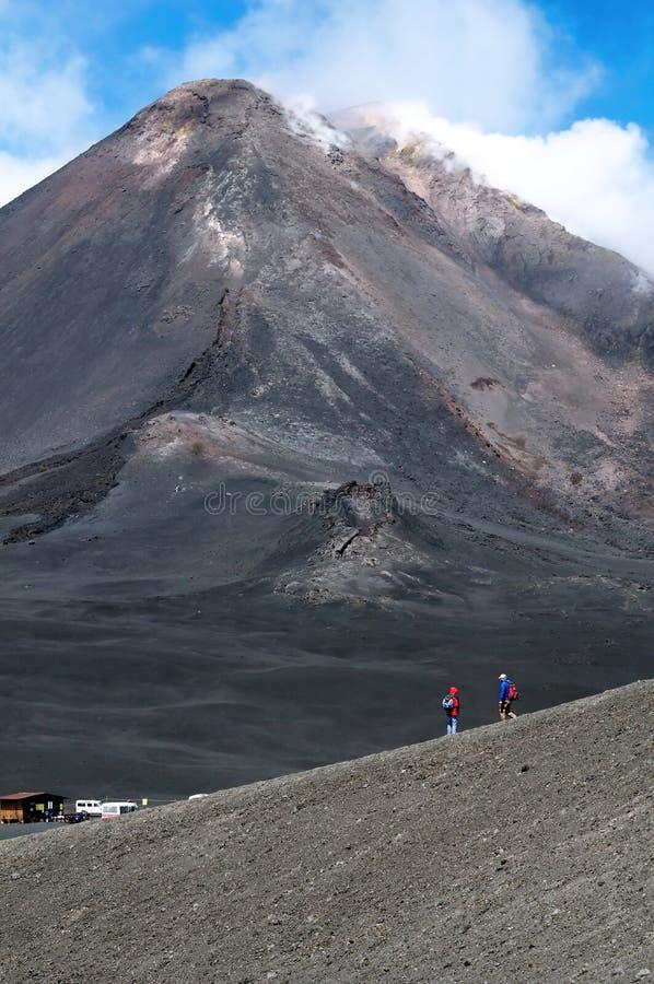 O pico da montagem Etna foto de stock