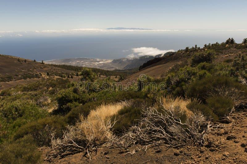 O pico de Gran Canaria Island fotografia de stock