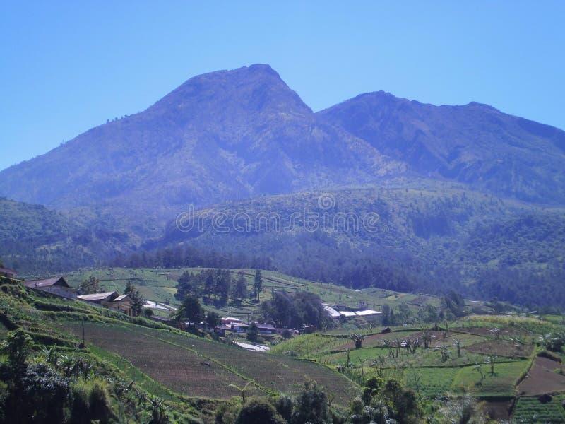 O pico de Mt Lawu fotografia de stock