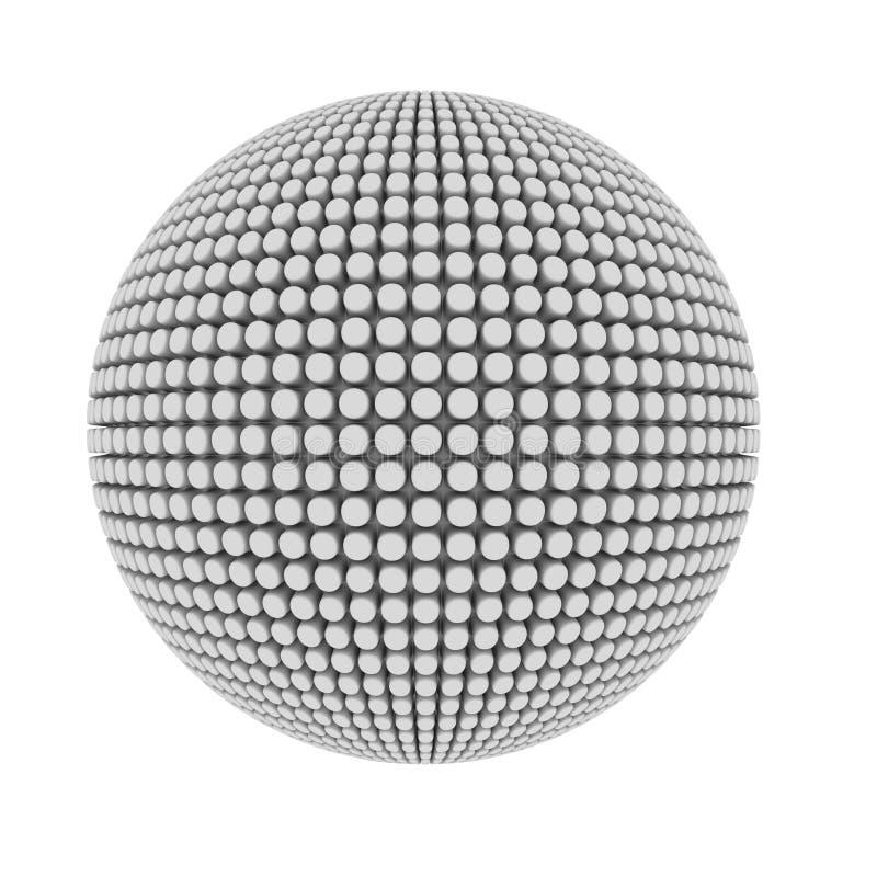 O pimple abstrato cobriu a esfera ilustração stock