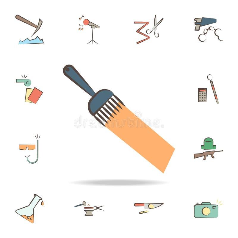 o pintor utiliza ferramentas o ícone Grupo detalhado de ferramentas de vários ícones da profissão Projeto gráfico superior Um dos ilustração royalty free