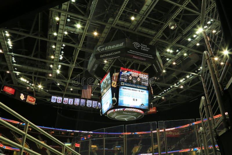 O placar Quicken empresta a arena fotos de stock