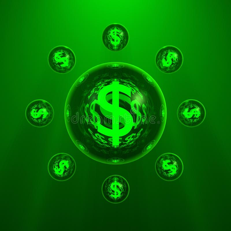 O planeta do dólar imagem de stock royalty free