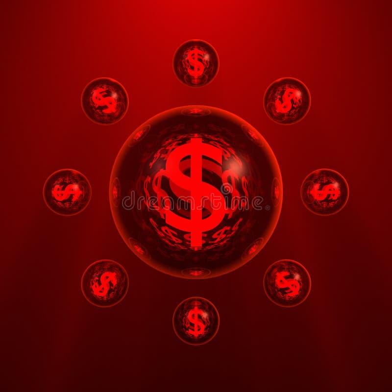 O planeta do dólar foto de stock royalty free