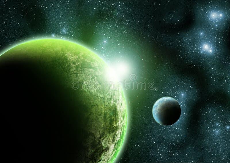 O planeta verde ilustração royalty free