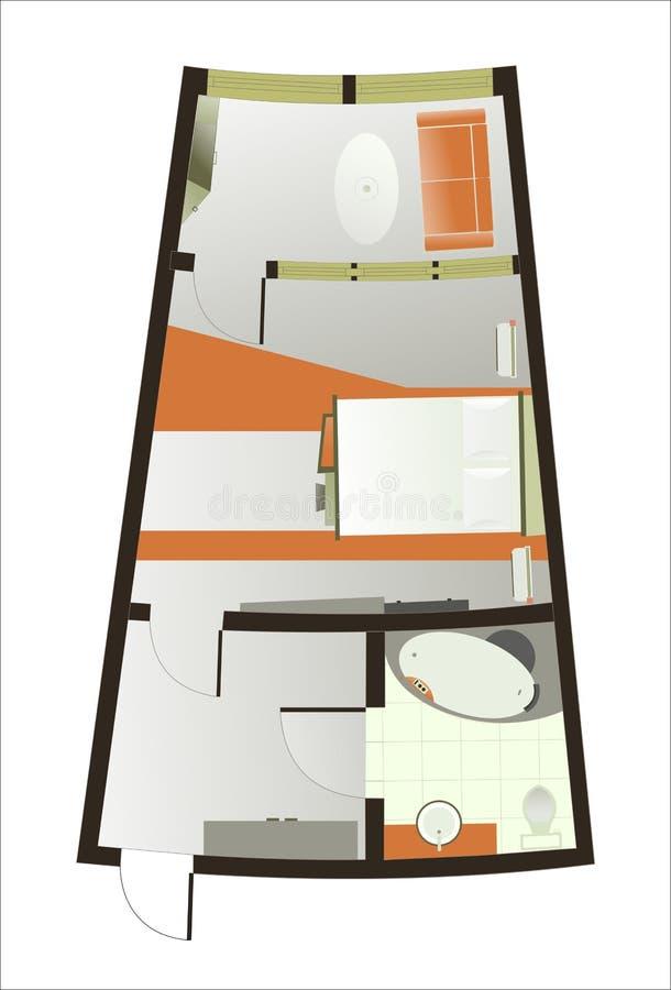 O plano arquitectónico da sala imagem de stock royalty free