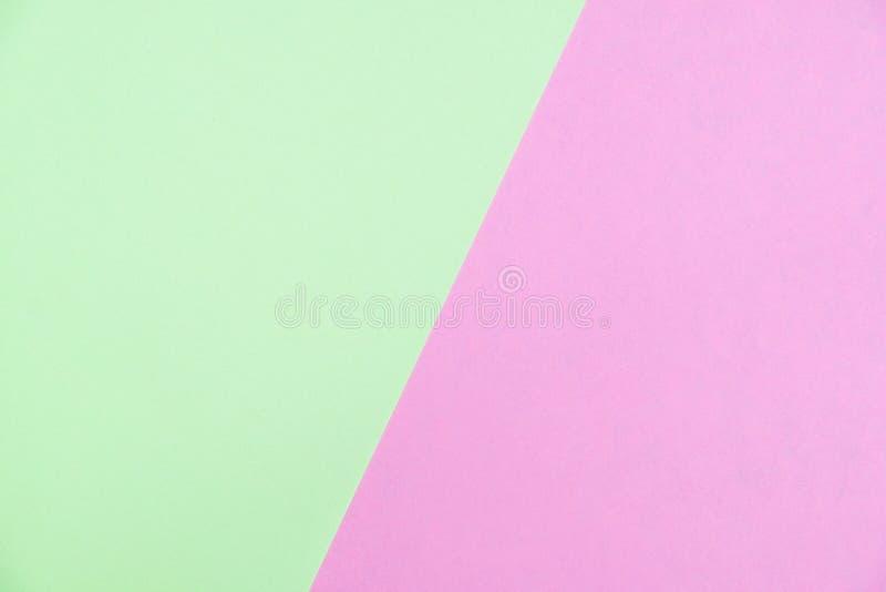 O plano do papel colorido da cor pastel coloca a vista superior, textura do fundo, gree imagens de stock royalty free