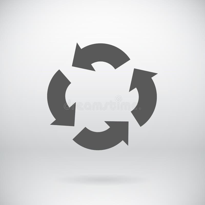 O plano recicla o fundo do símbolo das setas do vetor do sinal ilustração do vetor