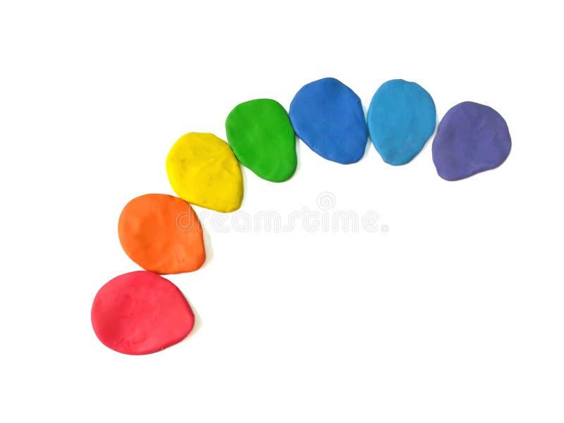 O plasticine colorido arranja a linha foto de stock royalty free