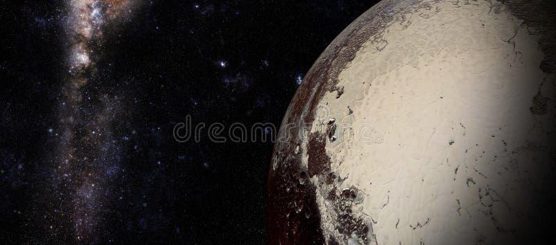 O Plutão disparado do espaço ilustração do vetor