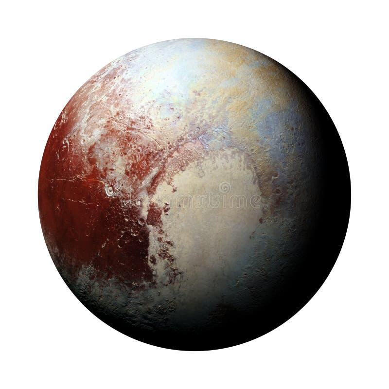 o Plutão do planeta do anão isolado no fundo branco, elementos desta imagem é fornecido pela NASA ilustração stock