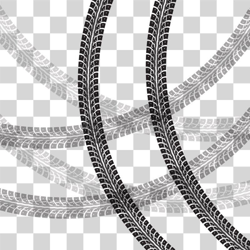 O pneu segue o vetor ilustração do vetor