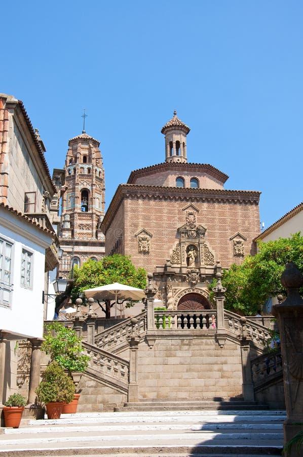 O Poble Espanyol em Barcelona, Spain fotos de stock