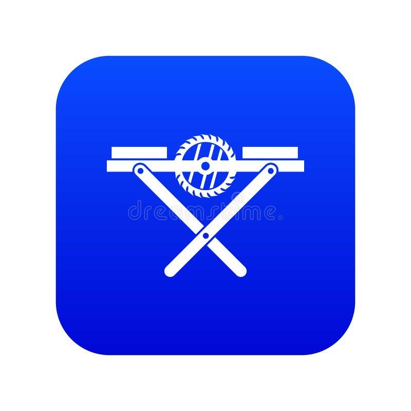 O poder considerou o azul digital do ícone do banco ilustração royalty free