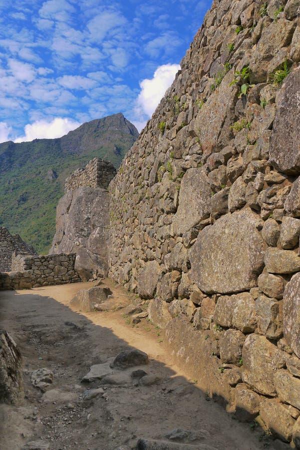 O poder de resistência de uma parede do Inca imagem de stock royalty free