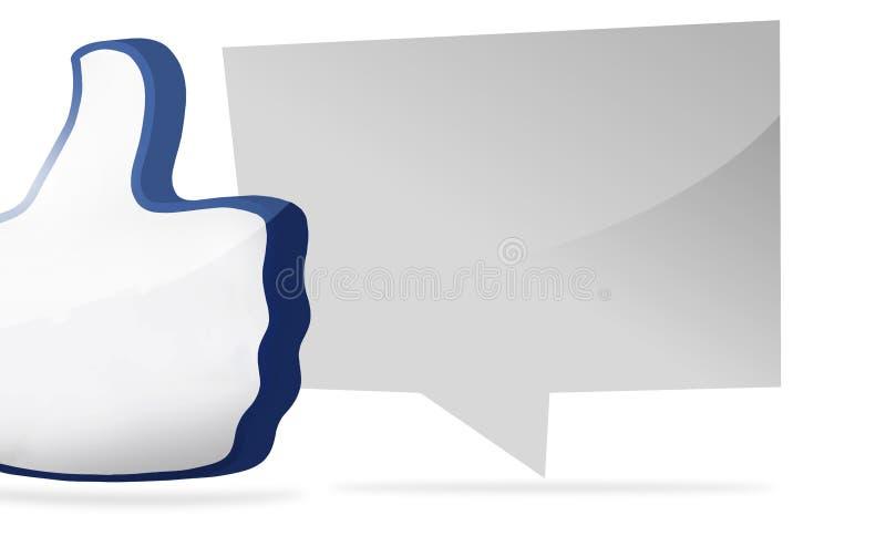 O polegar grande como o ícone 3D rende ilustração royalty free
