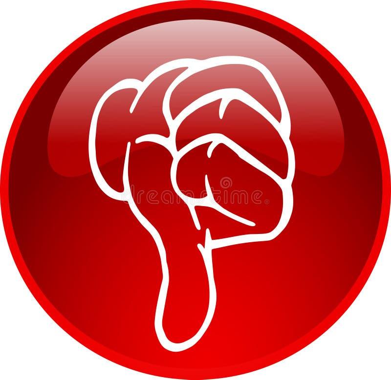 Download O Polegar Vermelho Abotoa-se Para Baixo Ilustração Stock - Ilustração de polegar, símbolo: 10058870