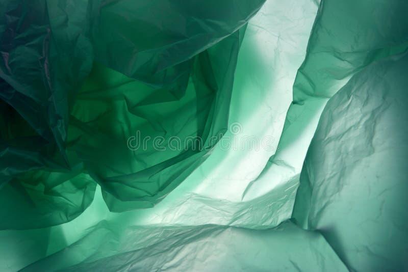 O polietileno pode usar-se como o fundo Molde para o cart?o, cartaz, projeto da bandeira Escuro - fundo verde Espa?o para o seu foto de stock