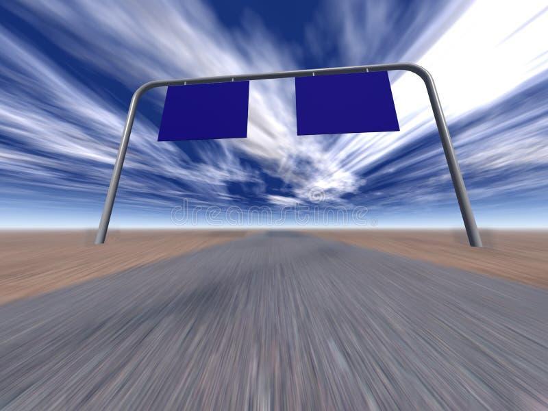 O ponteiro na estrada ilustração do vetor