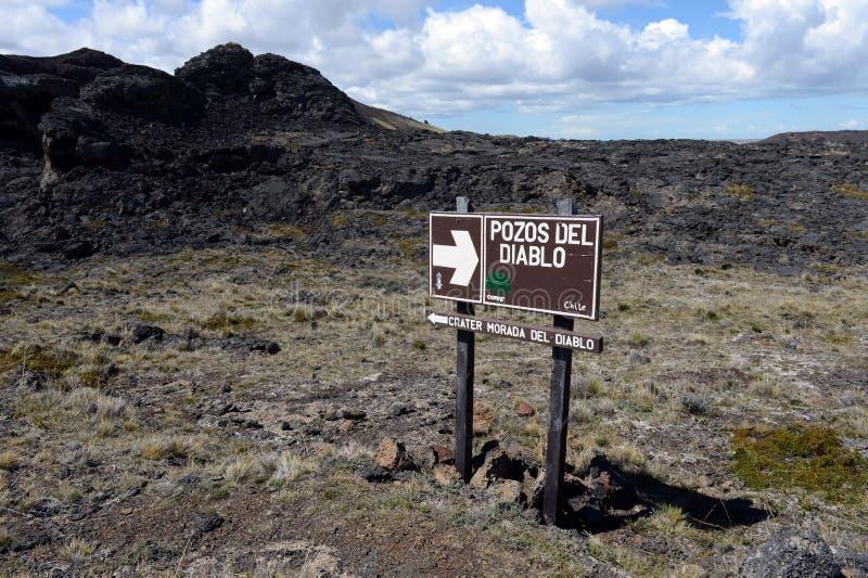 O ponteiro no parque nacional Pali Aike imagens de stock