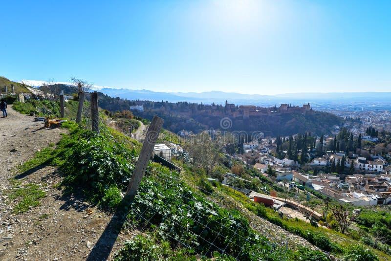 O ponto de vista sobre Granada - Espanha imagens de stock