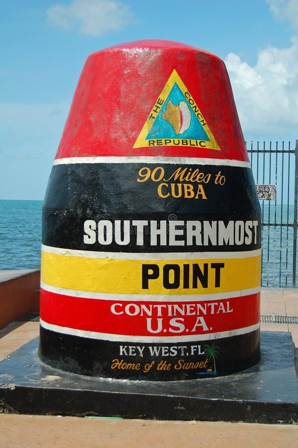 O ponto o mais southernmost imagem de stock