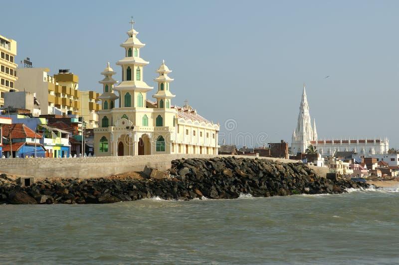 O ponto o mais southernmost de India imagens de stock royalty free
