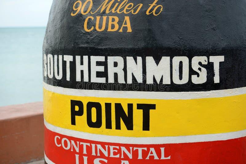 O ponto o mais southernmost em Key West, Florida fotografia de stock