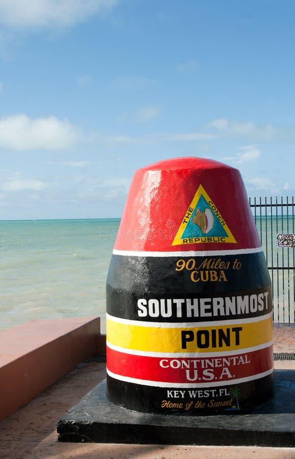 O ponto o mais southernmost, Key West imagens de stock
