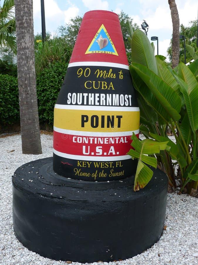 O ponto o mais southernmost no marcador continental dos EUA fotografia de stock royalty free
