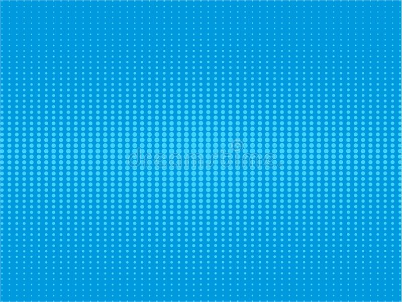 O pop art de intervalo mínimo do inclinação azul cômico retro da quadriculação do fundo ret ilustração do vetor