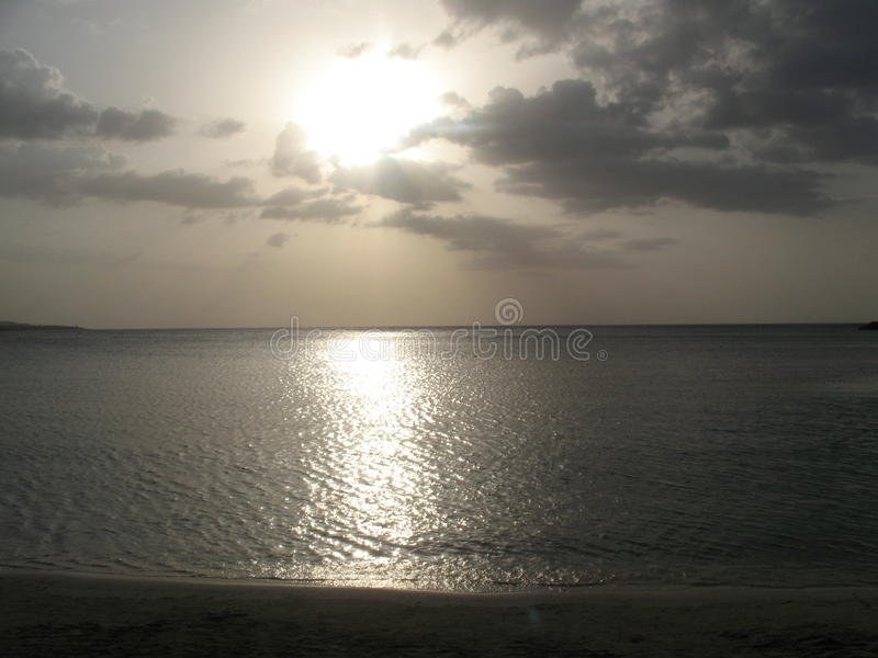 O por do sol de Jamaica fotografia de stock