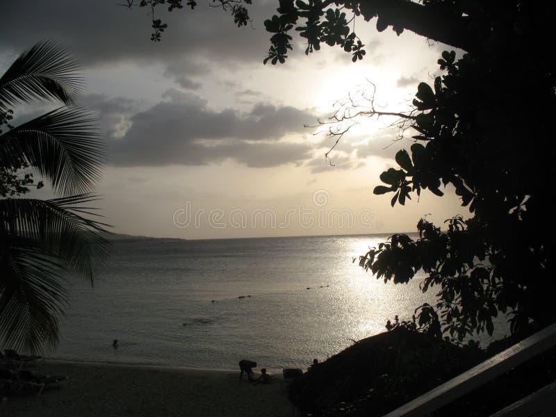O por do sol de Jamaica fotografia de stock royalty free