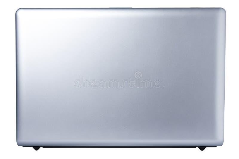 O portátil do computador aberto vê para trás isolado fotografia de stock royalty free
