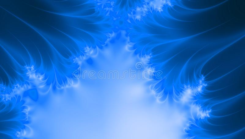 O porto azul colore o fundo com ondas, espaço da cópia ilustração stock