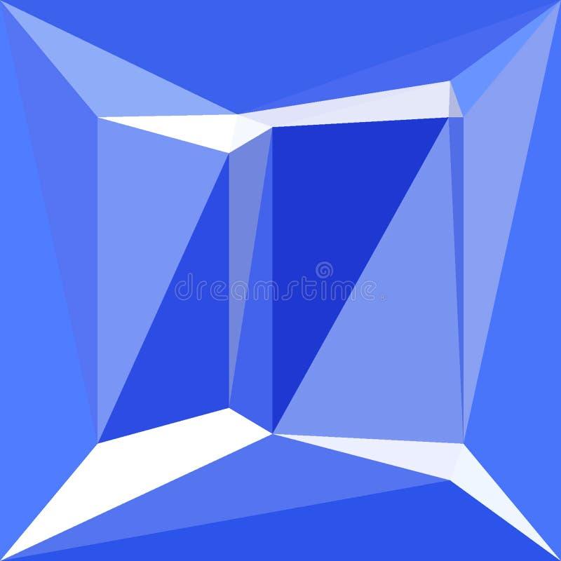O porto azul e o teste padrão poligonal branco efetuam o diamante ilustração do vetor