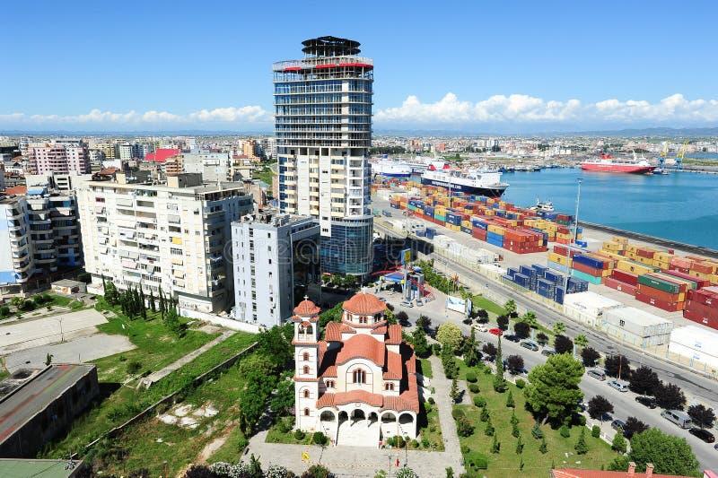 O porto comercial de Durres foto de stock royalty free