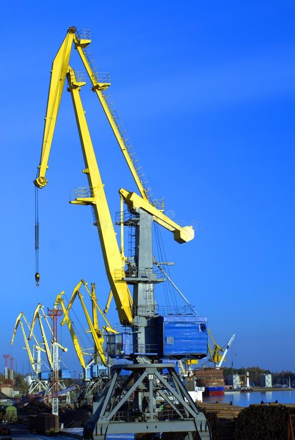 O porto cranes #1 imagens de stock royalty free