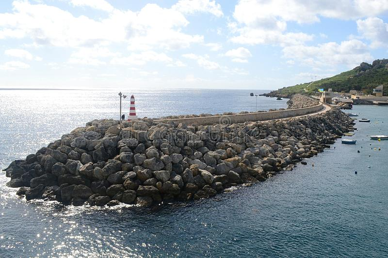 O porto da ilha de Gozo, Malta imagem de stock royalty free