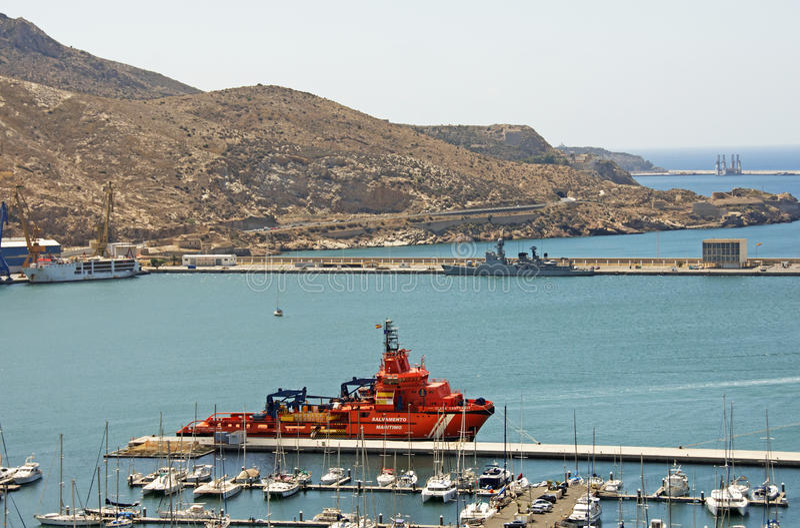 O porto em Cartagena foto de stock