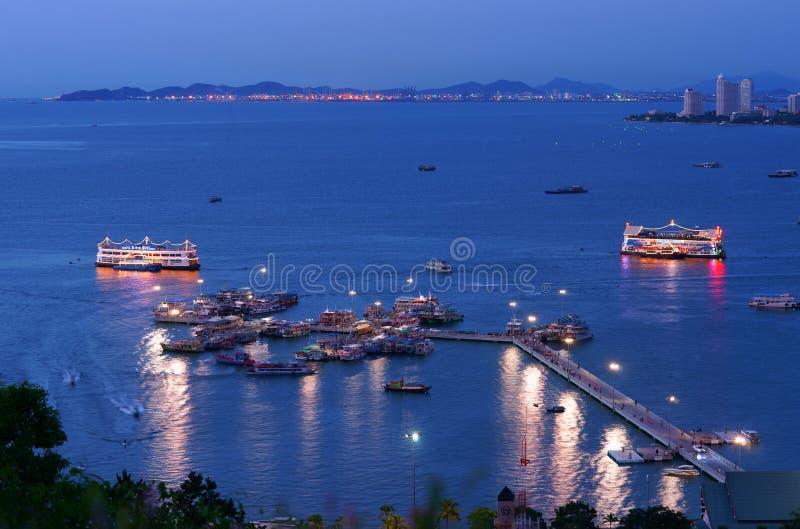 O porto em Pattaya fotografia de stock royalty free