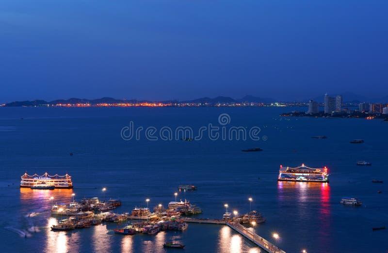 O porto em Pattaya fotos de stock