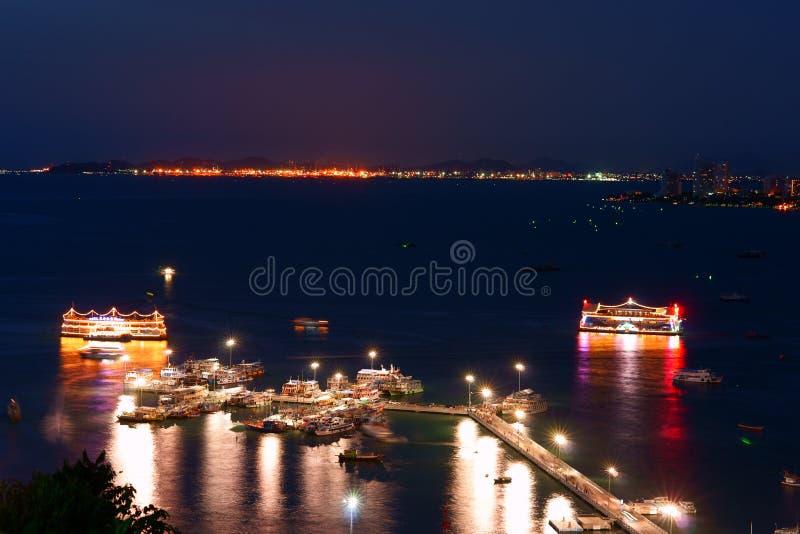 O porto em Pattaya imagem de stock