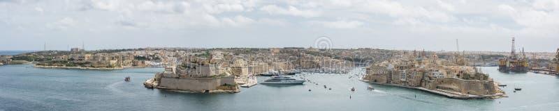 O porto grande Valletta Malta imagens de stock royalty free