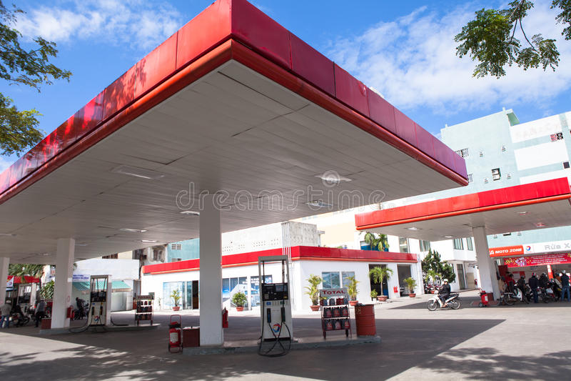 O posto de gasolina de Vietname fotos de stock royalty free