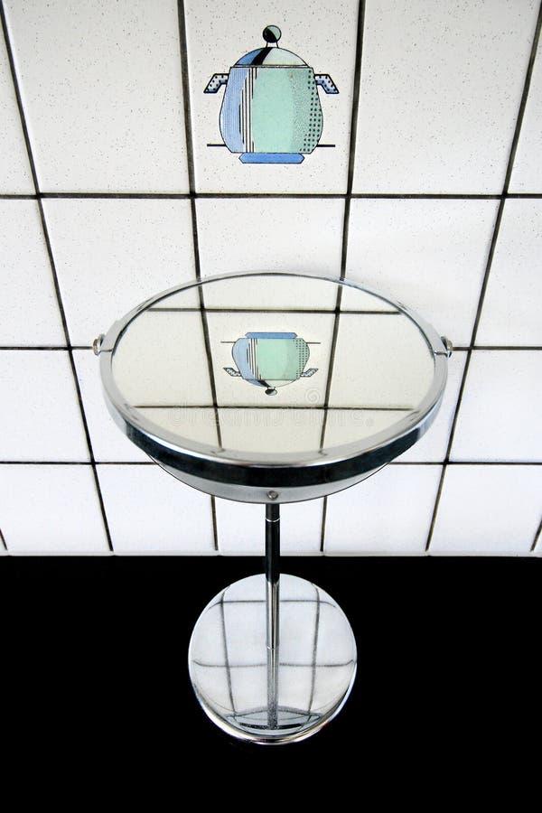 O potenciômetro no espelho foto de stock