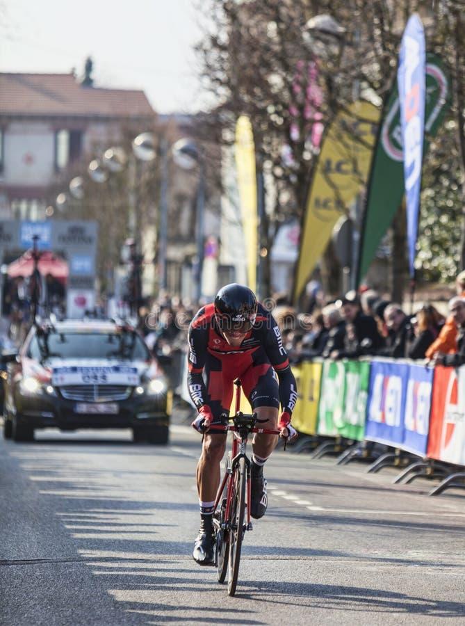 O prólogo 2013 agradável de Oss Daniel Paris do ciclista em Houilles