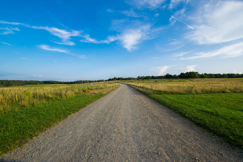 O prado grande negligencia sobre o parque nacional de Shenandoah da movimentação, Virgínia imagens de stock royalty free