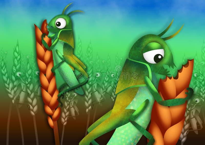 O praga dos locustídeo ilustração stock